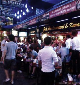 Die Straße der Herren in Bangkok