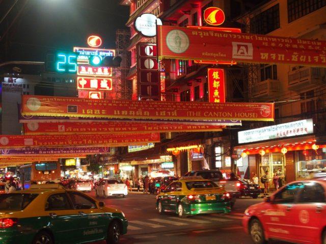 Chinatown Bangkok bei Nacht
