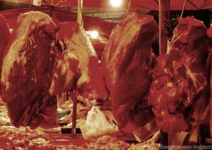 Fleischverkauf im Khlong Toey Markt