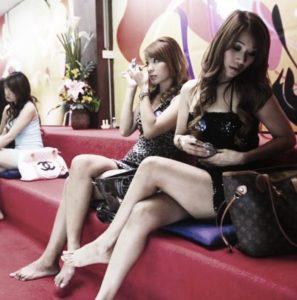 Mädchen in einem Massage parlour