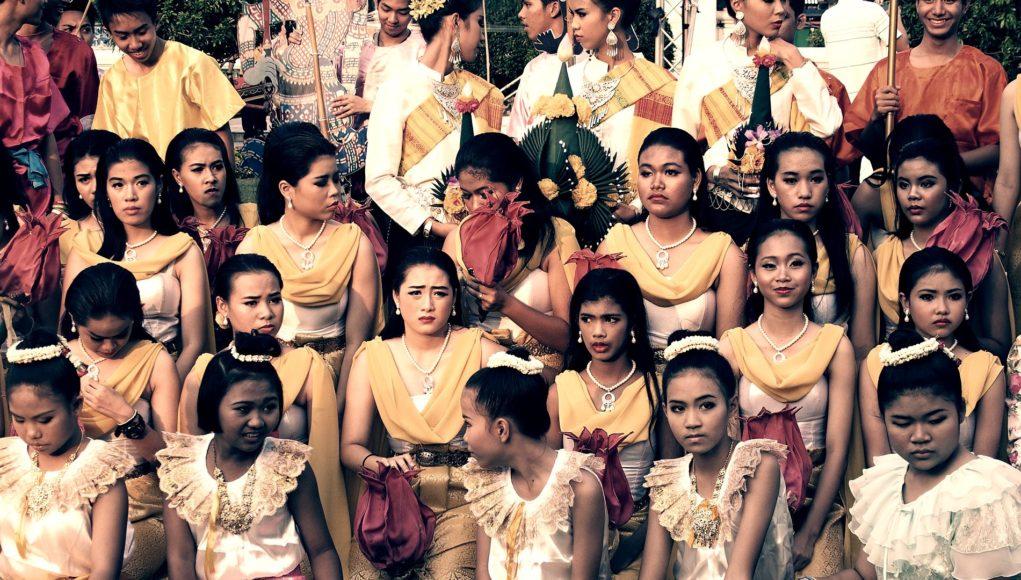 Eine Mädchengruppe in Bangkok