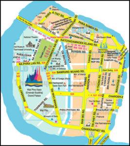 Map Rattanakosin