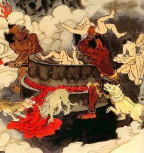 Darstellung buddhistische Hökke