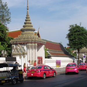 wartende Taxis for dem Grand Palace