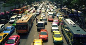 Taxis Verkehr in Bangkok