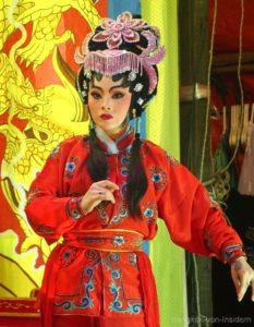 Schauspielerin in der chinesischen Oper in Bangkok